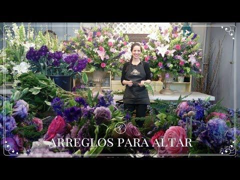 Como Hacer Arreglos De Flores Para Un Altar Youtube