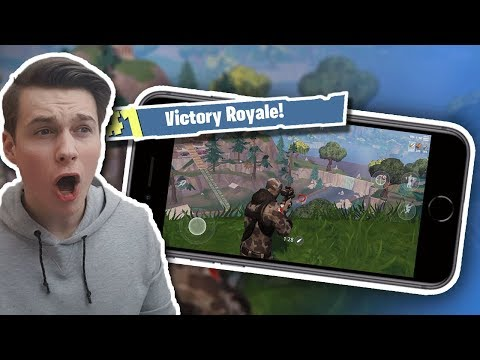 Fortnite Mobile WIN - First Look Gameplay Review (Tips & Tricks) Battle Royale