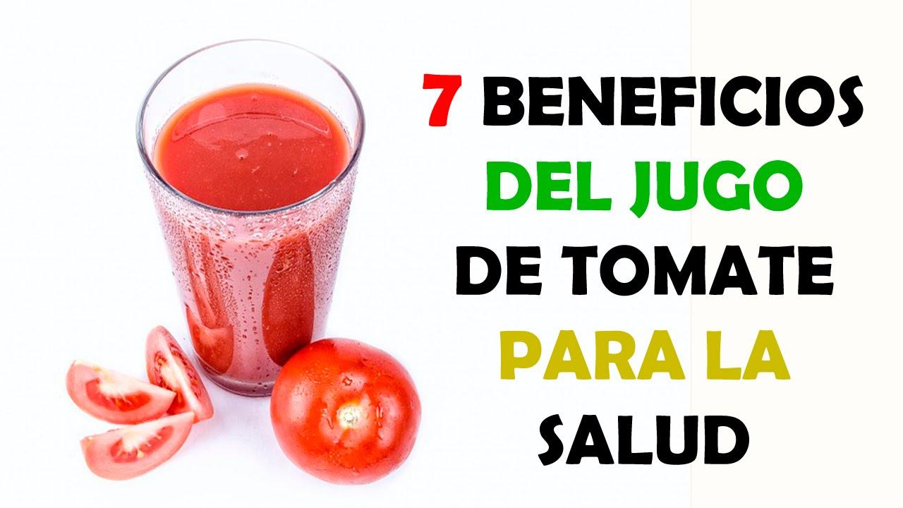 Jugo de tomate natural propiedades