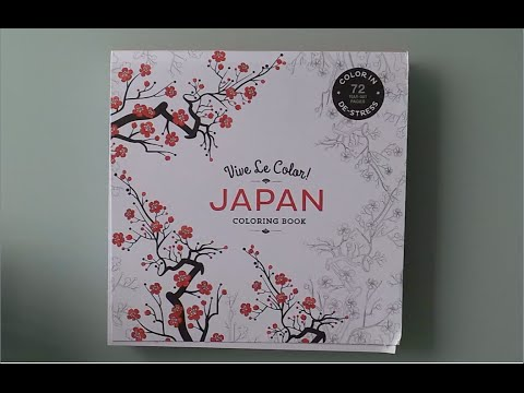Japan Coloring Book - Vive Le Color! - YouTube