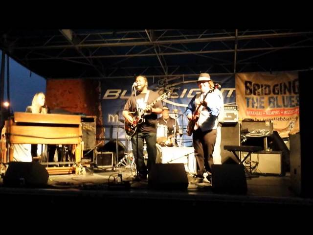 """Marquise Knox and Matt """"The Rattlesnake"""" Lesch - King Biscuit Blues Festival 2014 Lockwood Stage"""