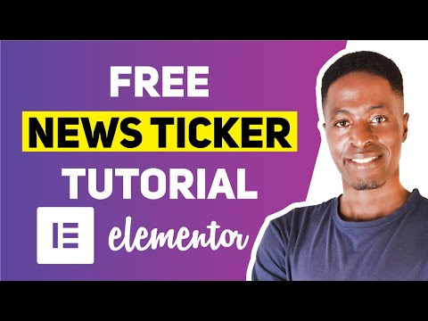 CREATE NEWS TICKER IN ELEMENTOR FOR FREE (Show Breaking News, Notifications & Announcements)