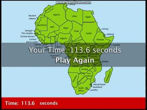 Map Of Africa Games.Educational Games Map Snap Africa Youtube