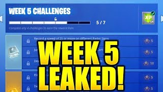 FORTNITE WEEK 5 CHALLENGES LEAKED! SEASON 6 WEEK 5 ALL CHALLENGES GUIDE EASY WEEK 5 CHALLENGES!