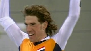 Gianni Romme Wins Speed Skating Gold  - Nagano 1998 Winter Olympics