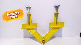 DIY Como hacer una escuadra móvil para soldar en angulos