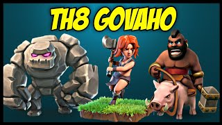 TH8 GoVaHo (Golem + Valkyrie + Hog Rider) War Attack Strategy | Part 4 | Clash of Clans