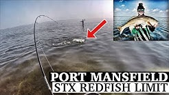 STX Redfish Limit   Fishing Port Mansfield, TX with SOFT PLASTIC LURES