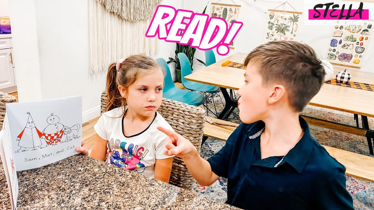 My Brother Teaches Me to READ!!!