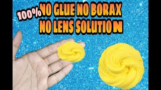NO CONTACT LENS SOLUTION NO GLUE SLIME RECIPE!! at home!!