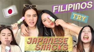 Filipinos Try Japanese Snacks! *WEIRD!*