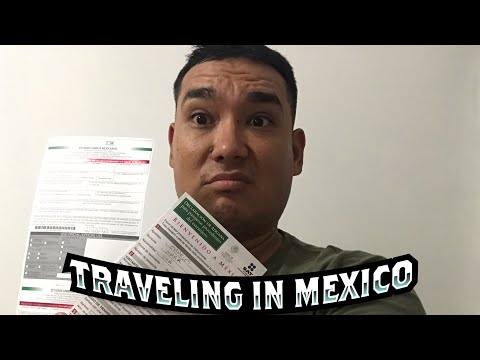 Mexican Customs And Immigration Paperwork Part 1.