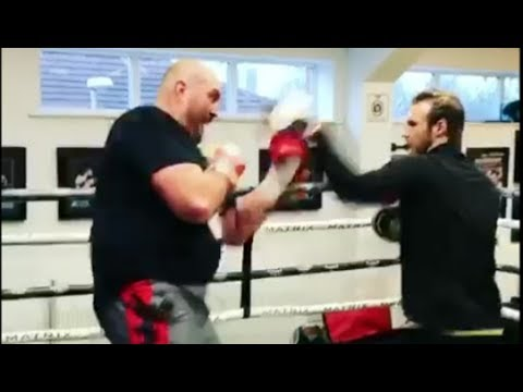 TYSON FURY IS BACK IN TRAINING! - SMASHING THE PADS - GYPSY KING STYLE!