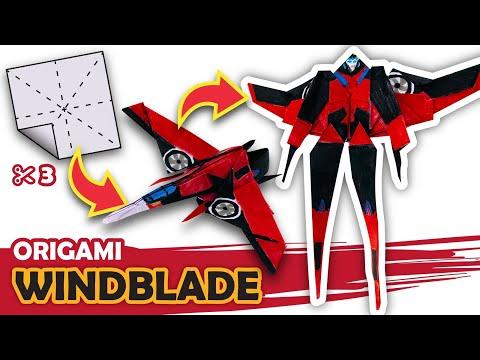 How to make a Transforming AUTOBOT Windblade Origami Transformer