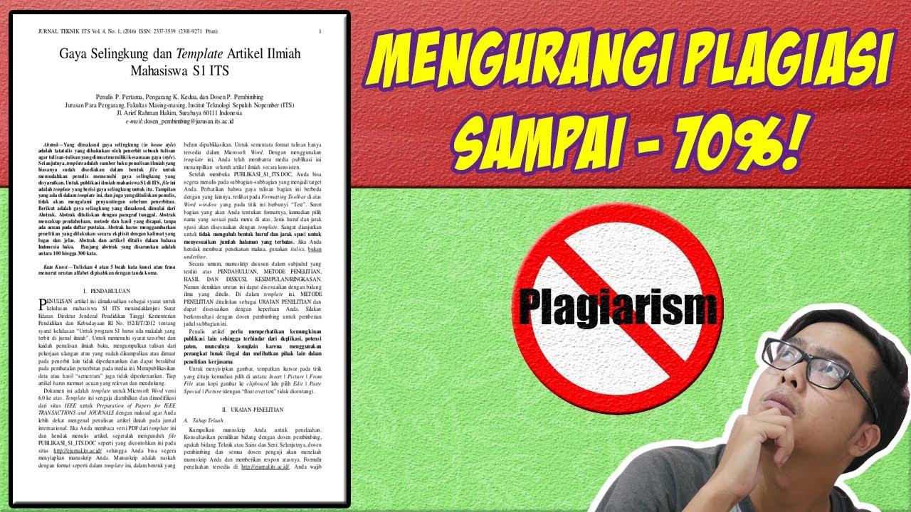 Cara Mengurangi Plagiarisme Otomatis dan Manual! Copas Pun Bisa Aman!