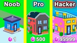 NOOB vs PRO vs HACKER - House Paint