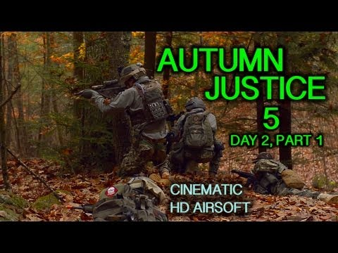 Autumn Justice 5: Day 2, Part 1 Cinematic Airsoft Action in HD