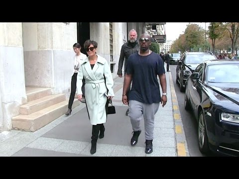 EXCLUSIVE - Kris Jenner And Her Boyfriend Corey Gamble Shopping At Elie Saab Store In Paris