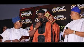 Ejike Asiegbus Son Wins The Best Actor As Jide Kosoko Oga Bello Gives Him Award Also Akin Lewis