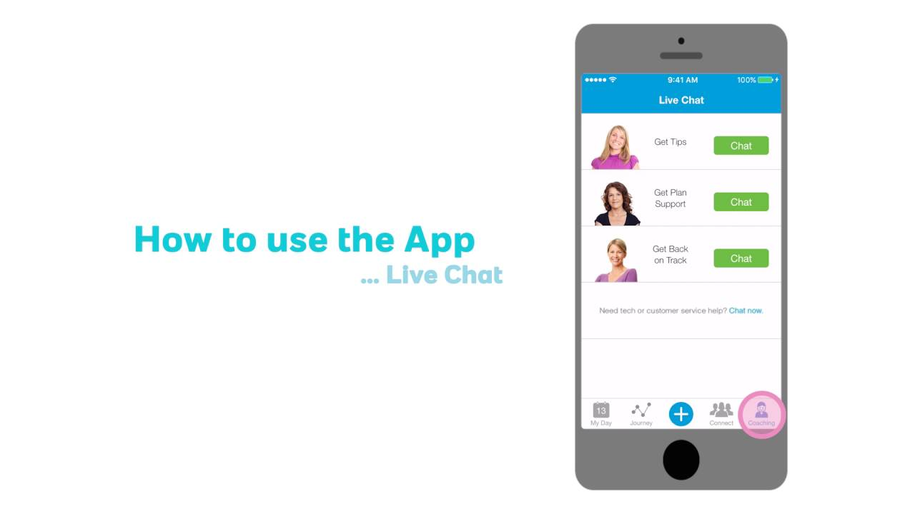 How to use the App - Live Chat - YouTube