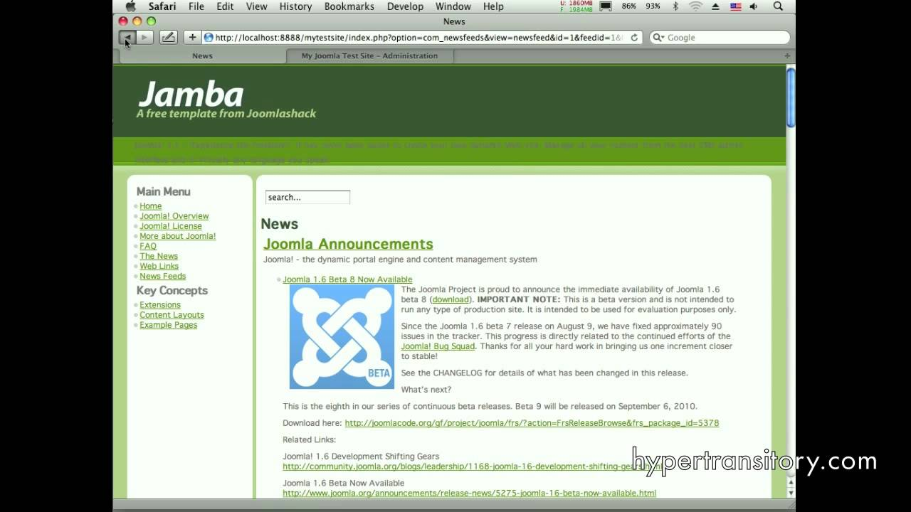 assigning multiple templates to your website in joomla 1 5 youtube