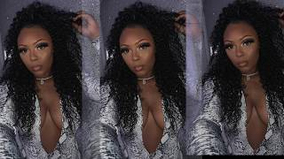 The Best Curly Hair | Half Up Half Down | Unice kysisss hair