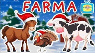 Nauka zwierząt dla dzieci - Zwierzęta na wsi - Farma - Odgłosy zwierząt *EDYCJA ŚWIĄTECZNA*