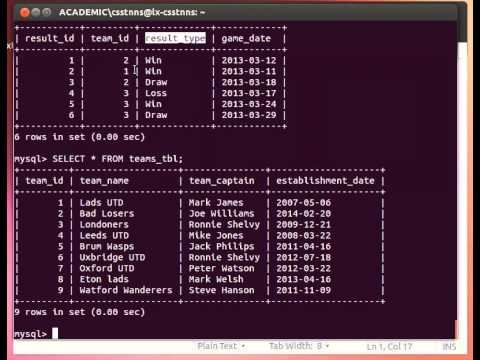 Mysql Tutorial From Terminal 1427 More On Select Querying