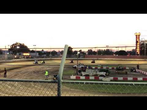 Delta Speedway Turkey Bowl 10/26/18 Jr Sprint hot laps -Ty