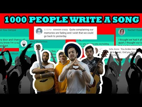 1000 PEOPLE WRITE A SONG! (Hourglass Love)