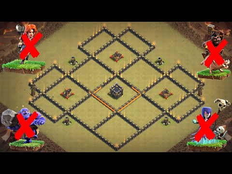 New Best TH10 War Base 2018 | Defense against Witch Slap, GoHo, LavaLoon, Miners, Queen Walk Attacks