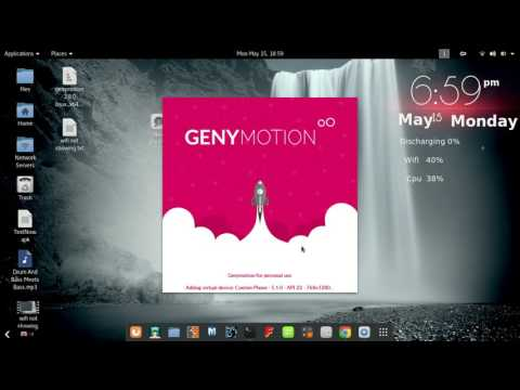 How to install genymotion (virtual android) on kali linux explained