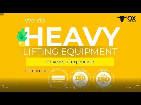 Ox Worldwide Products Presentation. Heavy lifting Equipment.