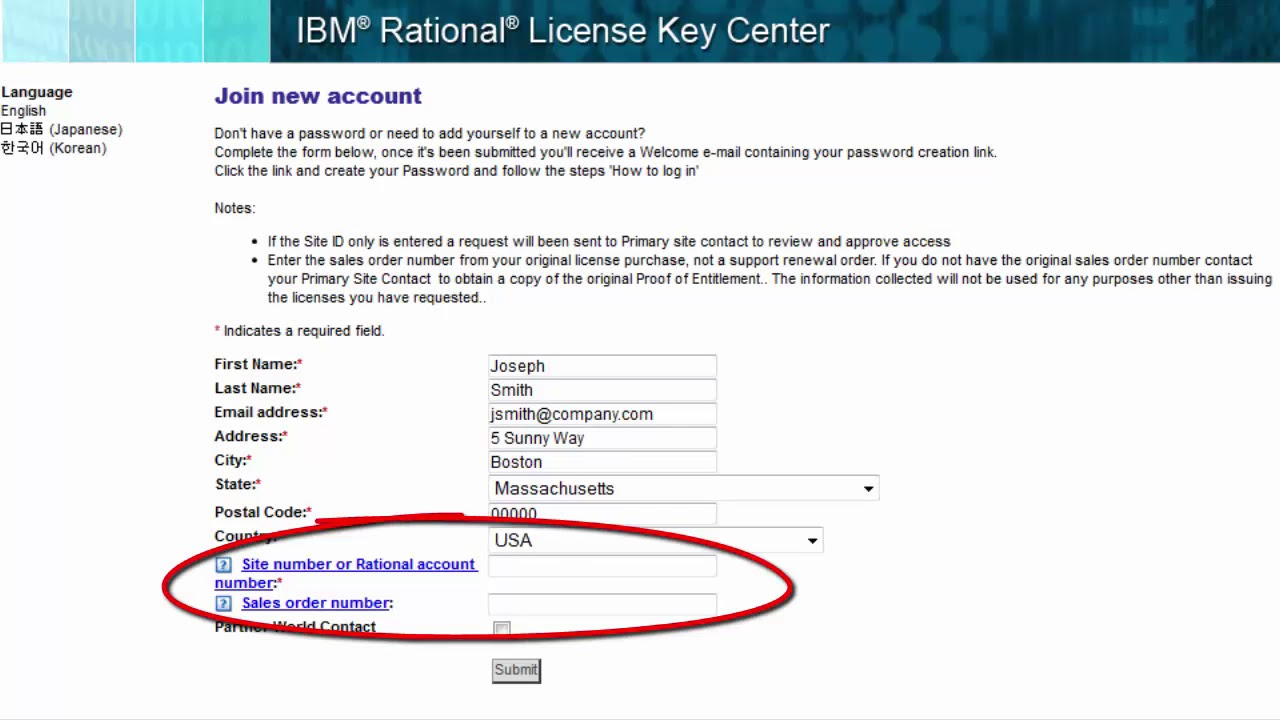 How to access the IBM Rational License Key Center