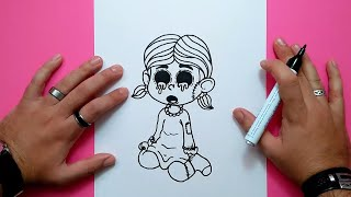 Como dibujar una niña terrorifica paso a paso | How to draw a terrific girl