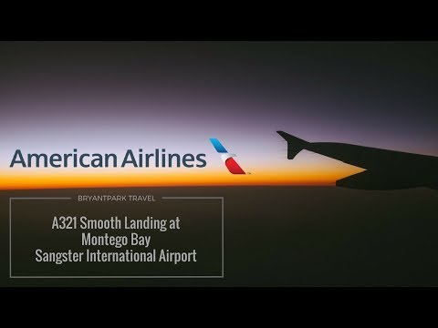 Smooth Landing. American Airlines A321 at Montego Bay Sangster International Airport