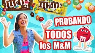 PROBANDO TODOS LOS M&M's DEL MUNDO! 13 Sabores 1300 Chocolates! TASTING SandraCiresArt