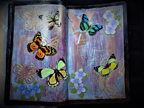 Art Journaling Adventures:  Always allow yourself the freedom to shine