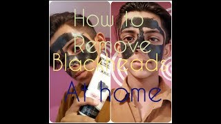 How  to remove blackheads at home|charcoal peel off mask