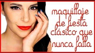 Delineado y labios rojos, maquillaje de Navidad que nunca falla | Silvia Quiros Makeup