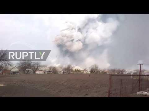 Ukraine: Fire erupts at Ukraine's largest military depot in Kharkov region