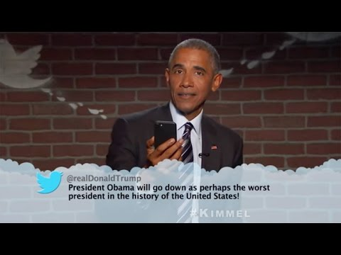 Watch Barack Obama Hilariously Respond to Donald Trump's 'Mean Tweets' About Him