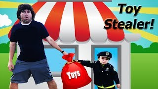 2019 Toy Stealer arrested - pretend play fun police kids