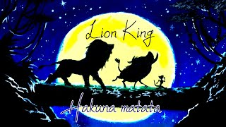 oil pastel drawing, How to draw Lion King, Simba, Timon and Pumbaa