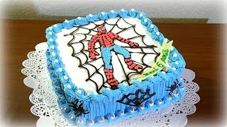 Торт Человек Паук кремовый Как украсить торт кремом Детские торты