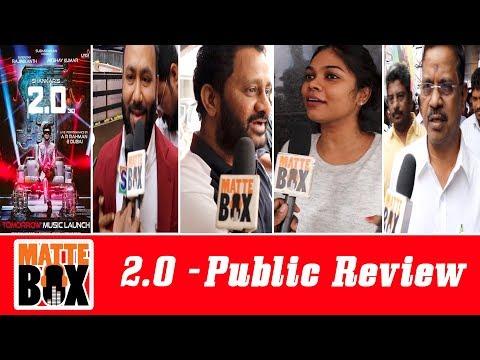 2.0 public review I  Public Opinion I RAJINIKANTH | AKSHAY KUMAR | SHANKAR I 2.0 Tamil I Matte Box