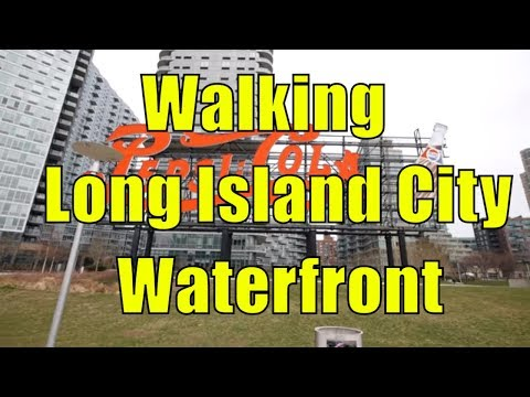 ⁴ᴷ Walking Tour of Long Island City, Queens, NYC - Hunter's Point South & Gantry Plaza State Park