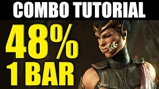 Mortal Kombat X - Mileena: 48% Combo Tutorial - Ravenous!