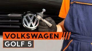 Смяна на задни Накладки за ръчна спирачка на VW GOLF V (1K1) - видео инструкции
