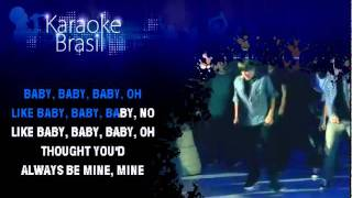 KARAOKE Justin Bieber Baby com Clip HD